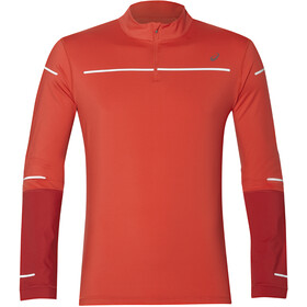 asics Lite-Show Winter LS 1/2 Zip Top Men Red Alert/Samba